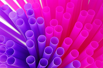 close up of drinking straws