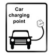 Electric Car Information Sign