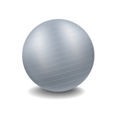Grey gym ball