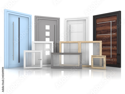 canvas print picture Türen und Fenster