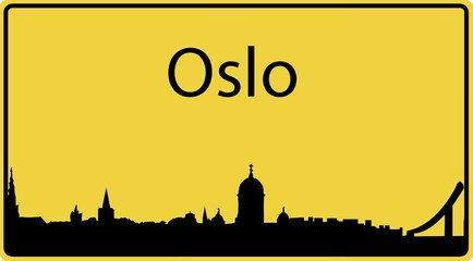Ortsschild Oslo