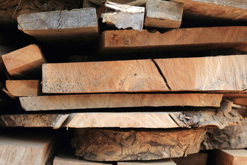Pile of wood plank for wooden industry
