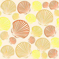 seashells seamless pattern background vector ,illustration