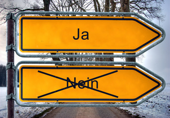 Strassenschild 4 - Ja