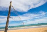 Fototapeta Volleyball net on the  beach