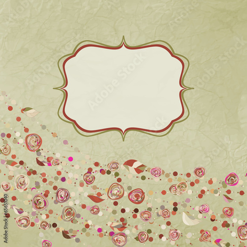 Tuinposter Abstract bloemen Мintage flower template, floral background. EPS 8