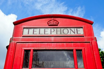 Top of English telephone box © Arena Photo UK