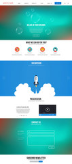 Website interface template. Modern flat style
