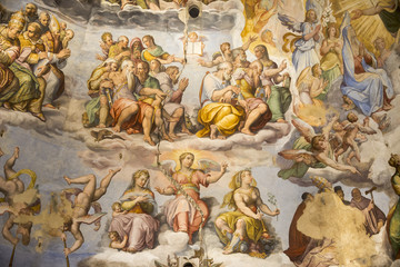 Ceiling painting Giotto's bell tower. Florence