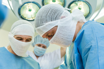 Surgeons during the operation