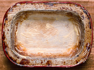 rustic shabby buttered  pie pan