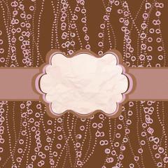 Polka dot valentine design, pink frame. EPS 8