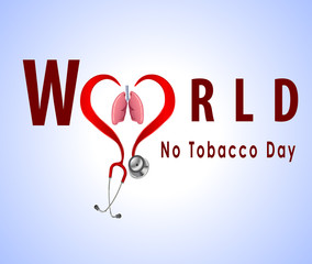 no tobacco day with stethoscope - vector eps10