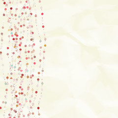 Vintage background with dots. EPS 8