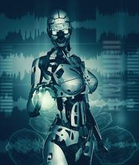 cyborg e sfera di energia