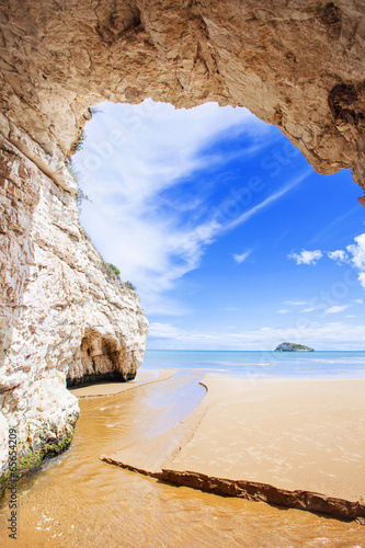 Leinwandbild Motiv Inside view of cave, Italy