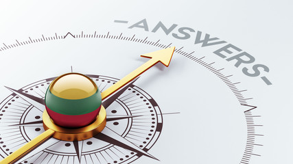 Lithuania Answers Concept.