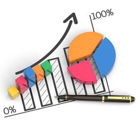 Market chart concept
