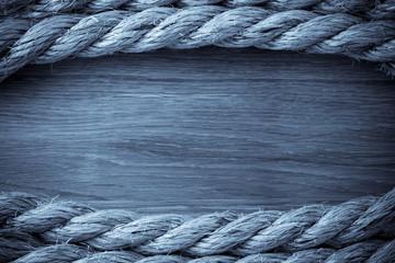 ship ropes on wood
