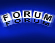 Forum Blocks Displays Advice or Social Media or Conference