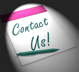 Contact Us! Notebook Displays Customer Service And Support