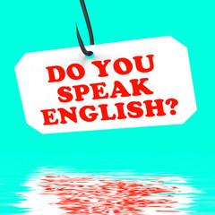 Do You Speak English? On Hook Displays Foreign Language Learning