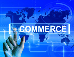 Commerce Map Displays Worldwide Commercial and Financial Busines