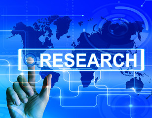 Research Map Displays Internet Researcher or Experimental Analyz
