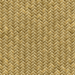 Graphic design of seamless realistic bamboo basket weave pattern