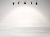 Fototapety studio background with spotlights