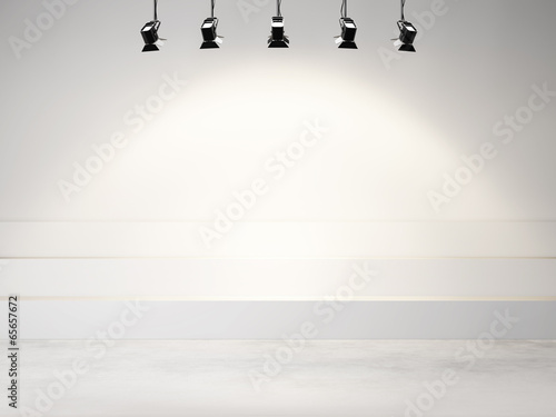 studio background with spotlights - 65657672