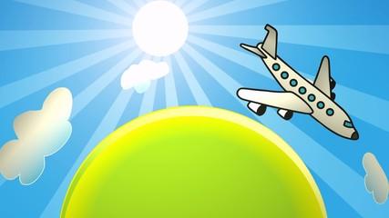 Flugzeug flugreise liegen wegfliegen Urlaub