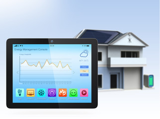 Home energy management app for tablet PC
