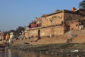 Die Ghats von Varanasi Indien