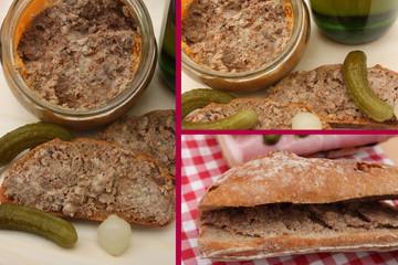 Casse croûte au Pâté de campagne pimenté