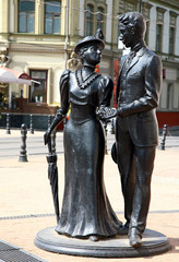 Sculpture aristocratic couple