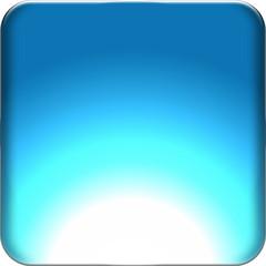bouton web carré bleu flash vierge