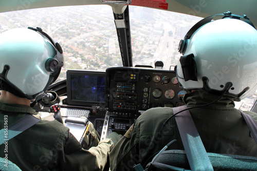 canvas print picture helicopter pilots flying