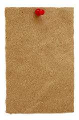 Brown paper with pushpin