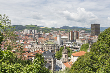 Views of Bilbao city, Bizkaia, Basque Country, Spain.