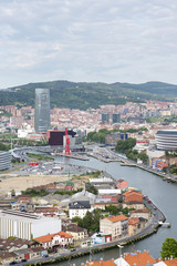 Views old and new Bilbao city, Bizkaia, Vasque Country, Spain.