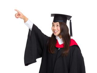 Beautiful graduate girl student