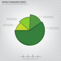 Infograpfics design element, green absrtact pie chart