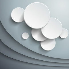 Abstract background with 3d  vector waves and circles. © Cobalt