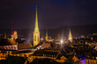 Abendstimmung an der Limmat - Zürich