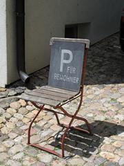 Parkschild für Bewohner