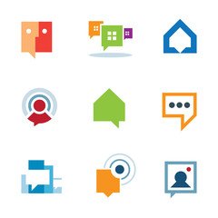 Personal social community conversation internet  chat logo icon