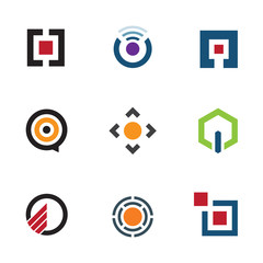 Application software menu ideas for mobile future logo icon