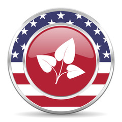 leaf american icon, usa flag