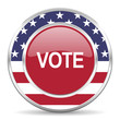 vote american icon, usa flag